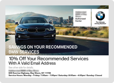 BMW Direct Mail Example