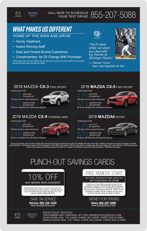 Mazda Direct Mail Example