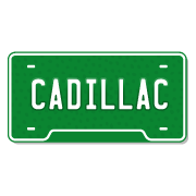 Cadillac License Plate