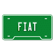 Fiat License Plate