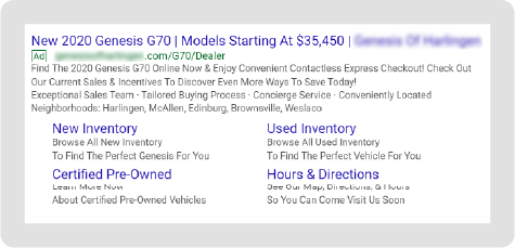 Genesis Paid Search Example