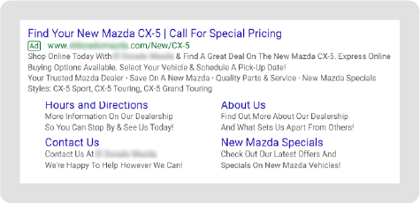 Mazda Paid Search Example