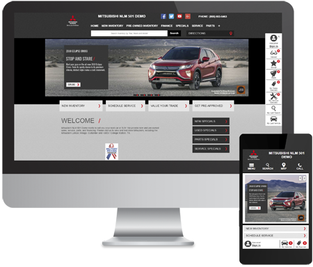 Mitsubishi dealership website