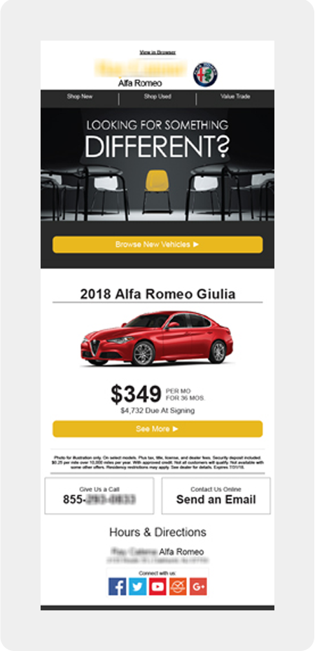 Alfa Romeo dealership email