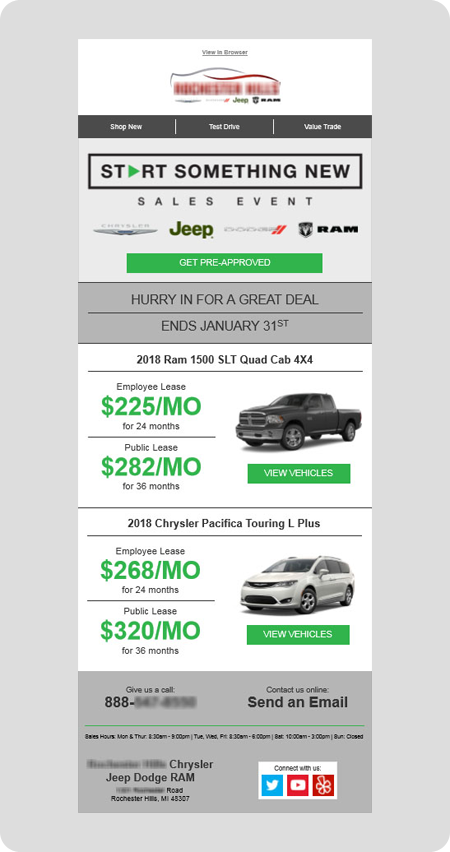 example CDJR dealership email