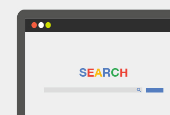 Illustration of web browser and search bar