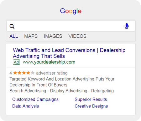paid search result