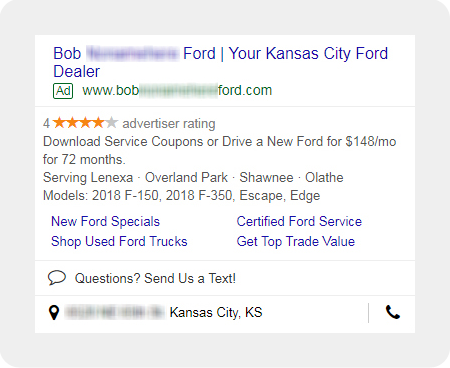 example Ford dealership digital ad