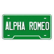 Alfa Romeo License Plate