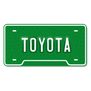 Toyota License Plate